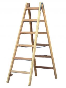 Günzburger Holz Stehleiter, mit 2x6 Sprossen