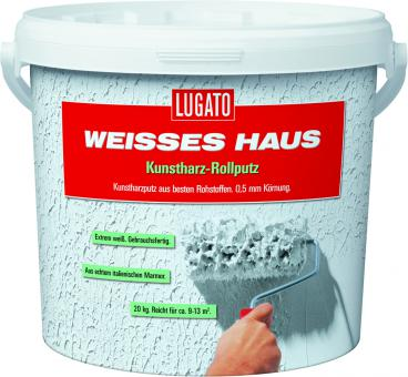 Lugato Weißes Haus Kunstharz Rollputz 0,5 mm 8 kg