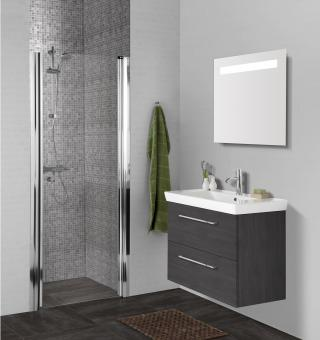 Scanbad Badmöbel Set Multo+ XL 125 cm 3-teilig, Pine Grey