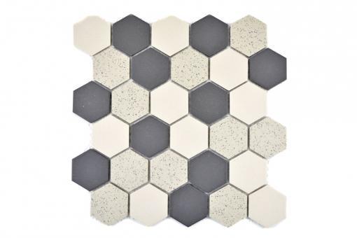 KEM Mosaik Hexagon mix unglasiert rutschhemmend R10 271 x 281 mm G2
