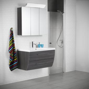 Scanbad Rumba Badmöbelset mit Spiegelschrank 90 cm Pine Grey