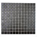 Mosaikmatte Quadrat uni schwarz matt