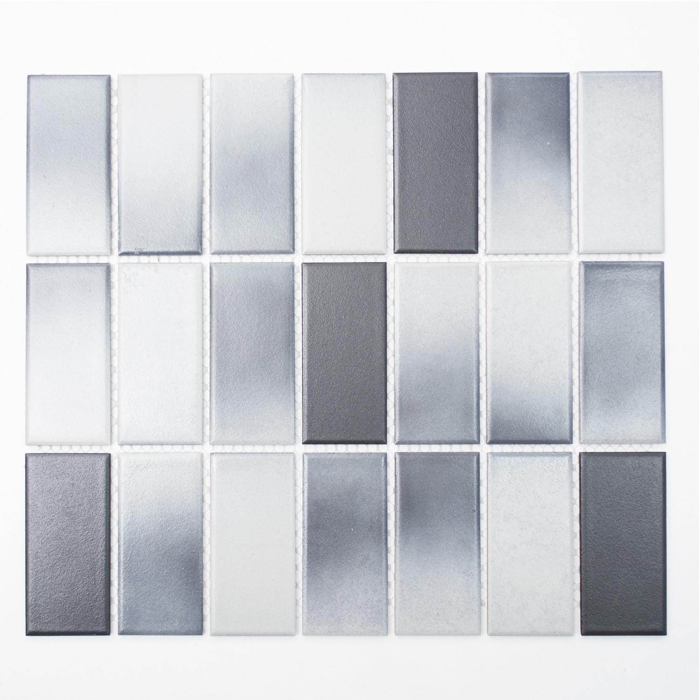 KEM Mosaik Mosaikmatte Rechteck mix grau rutschhemmend R10C 336 x 290 mm
